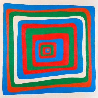 Ralph De Burgos, The Eyes Have It, 1972, Acrylic on canvas, 36 H. x 36 W. inches