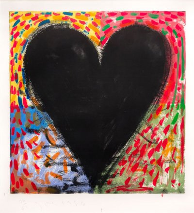 Jim Dine Hand Painting on the Mandala, 1986 Engraving, drypoint and hand coloring 49 1/2 x 40 1/8 inches Edition of 60  Signed and numbered DIX013A