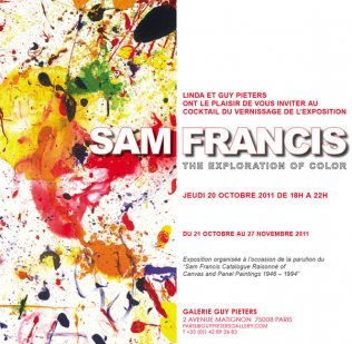 SAM FRANCIS THE EXPLORATION OF COLORS GUY PIETERS GALLERY - PARIS