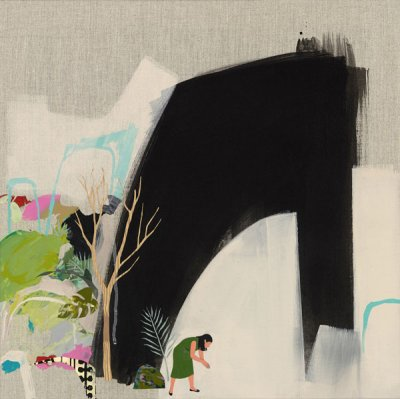 Seonna Hong Biophilia mixed media on canvas