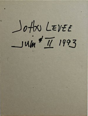 CRJL1993 N°01 CATALOGUE RAISONNE JOHN LEVEE