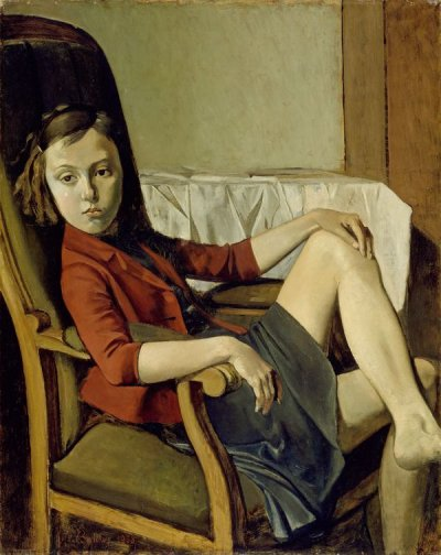 BALTHUS, THÉRÈSE, 1938  Huile sur carton sur bois, 100.3 x 81.3 cm The Metropolitan Museum of Art, New York, Légué par Mr. et Mrs. Allan D. Emil, en l'honneur de William S. Lieberman, 1987 © Balthus, Photo: The Metropolitan Museum of Art/Art Resource/Scala, Florence