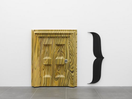 Richard Artschwager  Door } , 1983-84  Acrylic on wood, glass 207.6 x 165.1 x 24.8 cm  Collection Kerstin Hiller and Helmut Schmelzer,  on loan to Neues Museum Nürnberg  © Estate of Richard Artschwager, VEGAP, Bilbao, 2020  Photo: Annette Kradisch