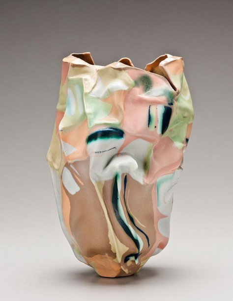 Babs Haenen. Spring Dunes, 1988. Porcelain, 15 1/8 in. (38.4 cm). The Metropolitan Museum of Art, New York, Gift of Robert A. Ellison Jr., in celebration of the Museum's 150th Anniversary, 2020 (2020.296.35). Courtesy Hostler Burrows, New York. Photography by Robert A. Ellison Jr