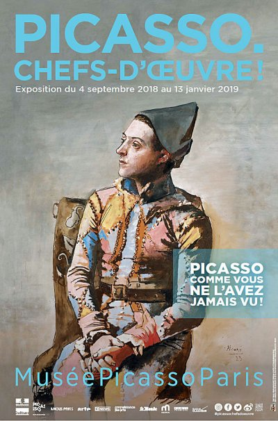 Affiche icasso chefs doeuvre © Musée national Picasso-Paris