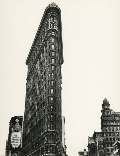 Flatiron Building, Madison Square, New York, 1938 ©Berenice Abbott/ Getty Images Courtesy of Howard Greenberg Gallery New York