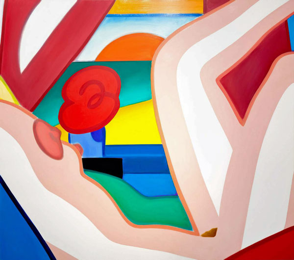 Tom Wesselmann  Sunset Nude (Variation #1), 2002  Signed on the reverse  Oil on canvas 170 x 193 cm