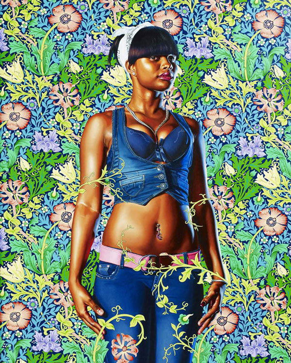 Kehinde Wiley  China Samantha Nash, 2013  Signed and dated on the reverse  Oil on canvas 173 x 143 cm