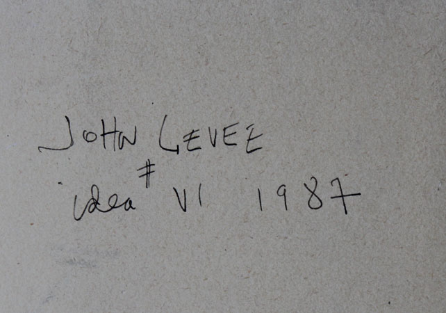 CRJL1987 N°04 CATALOGUE RAISONNE JOHN LEVEE - DOS