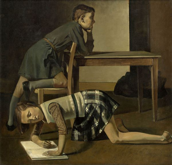 BALTHUS, LES ENFANTS BLANCHARD, 1937  Huile sur toile, 125 x 130 cm Musée national Picasso-Paris, Donation des héritiers de Picasso, 1973/1978  © Balthus Photo: RMN-Grand Palais (Musée national Picasso-Paris) / Mathieu Rabeau