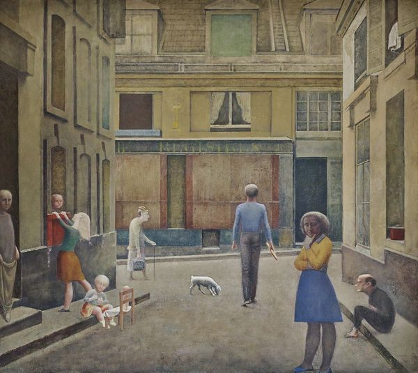 BALTHUS, PASSAGE DU COMMERCE-SAINT-ANDRE, 1952–1954  Huile sur toile, 294 x 330 cm, Collection privée © Balthus Photo : Mark Niedermann
