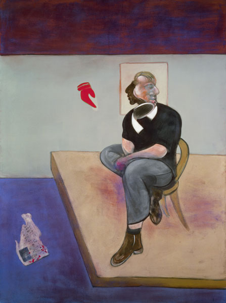 Francis Bacon Étude pour autoportrait (Study for Self-Portrait), 1981 Huile, pastel et letraset sur toile 198 x 147,5 cm Collection particulière © The Estate of Francis Bacon. Tous droits réservés DACS/VEGAP, Bilbao, 2016 Photo : Prudence Cuming Associates Ltd.