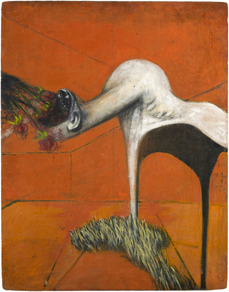 Biographie de Francis Bacon - Francis Bacon 'Furie' ('Fury'), ca. 1944 Huile et pastel sur aggloméré 94 x 74 cm Collection particulière © The Estate of Francis Bacon. Tous droits réservés DACS/VEGAP, Bilbao, 2016Photo : Prudence Cuming Associates Ltd.