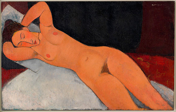 Amedeo Modigliani Nu, 1917 Huile sur toile 73 x 116,7 cm Solomon R. Guggenheim Museum, New York, Collection fondatrice Solomon R. Guggenheim, Donation 41.535