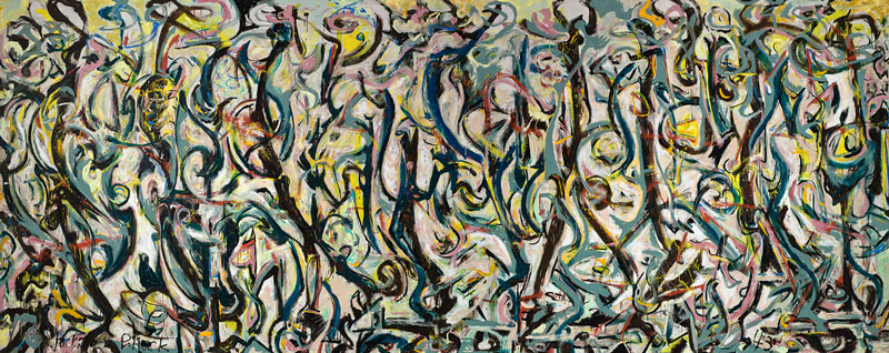 Jackson Pollock Mural, 1943 Huile et caséine sur toile 243,2 x 603,2 cm The University of Iowa Museum of Art. Donation de Peggy Guggenheim, 1959.6 © The Pollock-Krasner Foundation, VEGAP, Bilbao, 2016