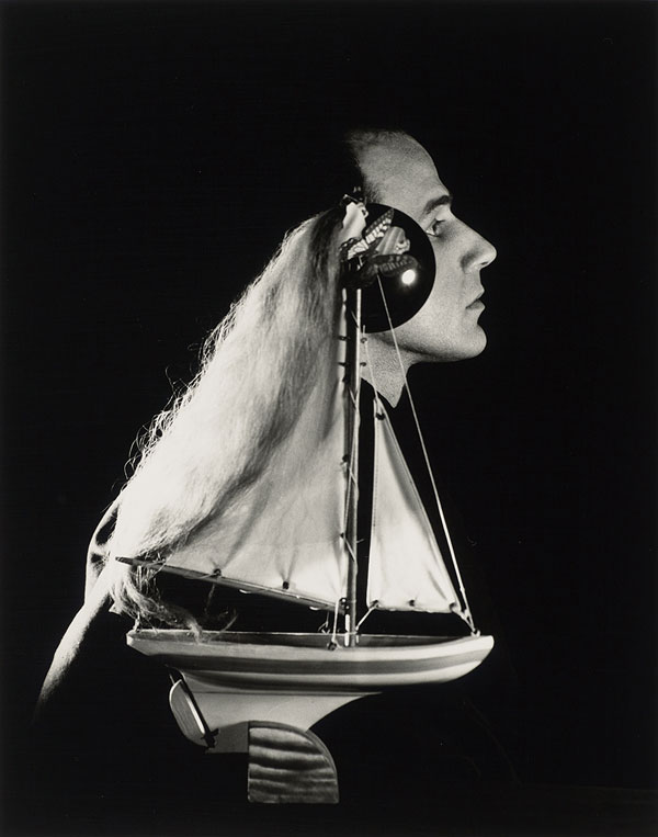Lee Miller, Joseph Cornell, 1933, printed ca. 1988. Gelatin silver print, 12 1/16 × 9 1/2 in. (30.6 × 24.1 cm). The Museum of Fine Arts, Houston, Gift of Clinton T. Willour in memory of Dominique de Menil, 98.20. © Lee Miller Archives