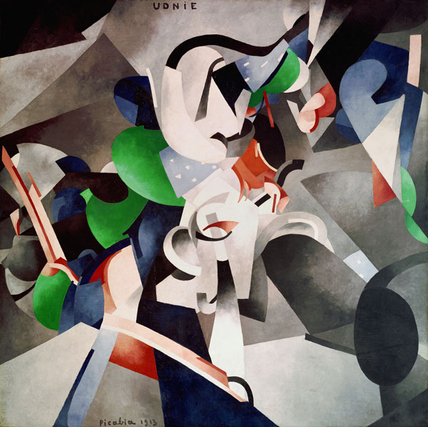 Francis Picabia. Udnie (Jeune fille américaine; danse) (Udnie [Young American Girl; Dance]). 1913.  Oil on canvas, 9