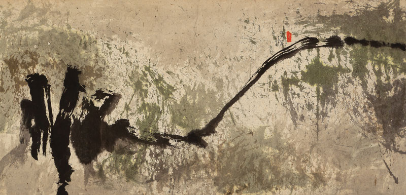 Fong Chung Ray sans titre 1964 encre sur papier 59 x 119 cm collection privee © Fong Chung Ray
