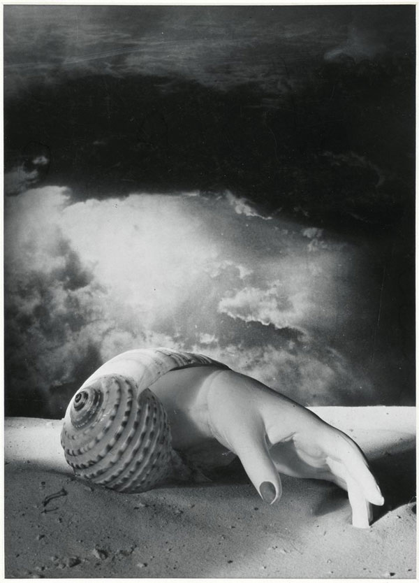 Dora Maar Untitled (Hand-Shell) 1934. Centre Pompidou, Musée national d'art moderne, Paris Photo © Centre Pompidou, MNAM-CCI, Dist. RMN-Grand Palais / image Centre Pompidou, MNAM-CCI © ADAGP, Paris and DACS, London 2019