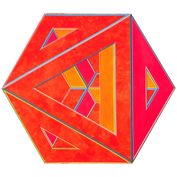 Alvin Loving  Septehedron 34, 1970  Acrylic on shaped canvas  88 5/8 × 102 ½ in. (225.1 × 260.4 cm)  Gift of William Zierler, Inc. in honor of John I. H. Baur  74.65